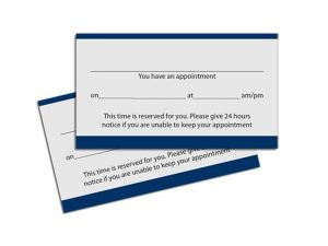 appointment cards printing services