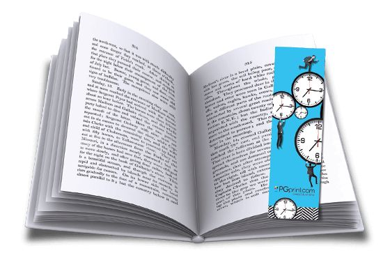 blue clocks custom bookmarks