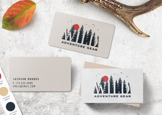 adventure image business cards