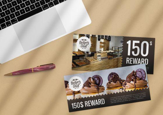 2 rewards custom buckslips