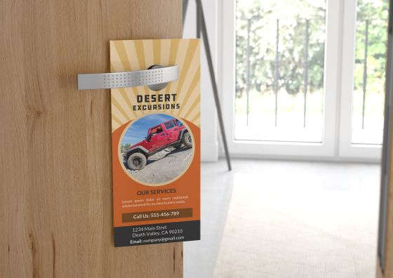 custom door haner hanging on door handle