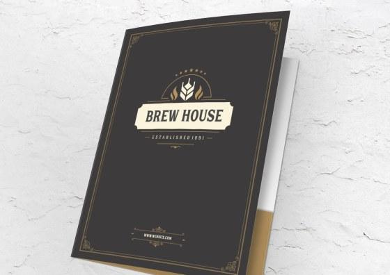 brew house pocket folder