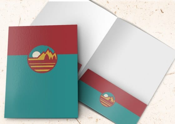 custom colored pocket folders