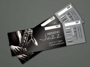 jazz weekend tickets dark background