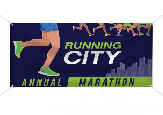 marathon custom vinyl banner