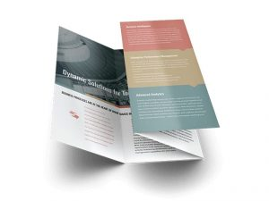 custom double parallel brochure