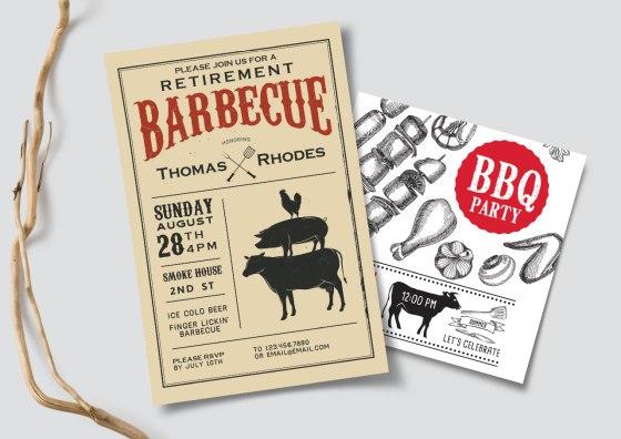 flat barbecue invitations