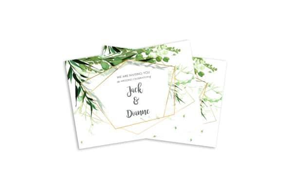 flat wedding invitations white background