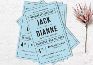 flat wedding invitations