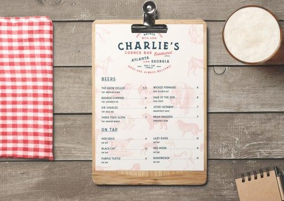 flat restaurant menu