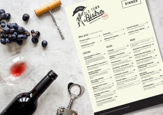 flat food menu