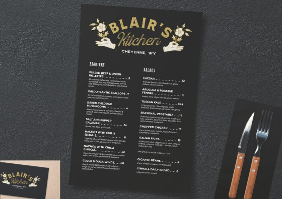 flat menu dark