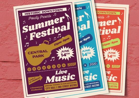 festival flyers