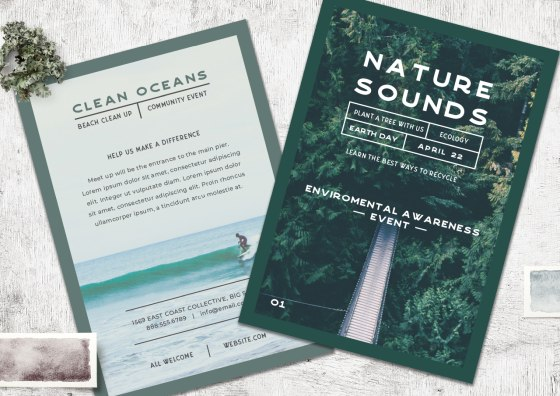 nature sounds flyer