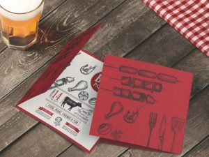 barbecue folded cards