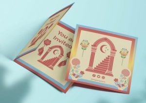 custom design folded invitations