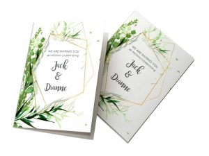 custom folded invitations cards