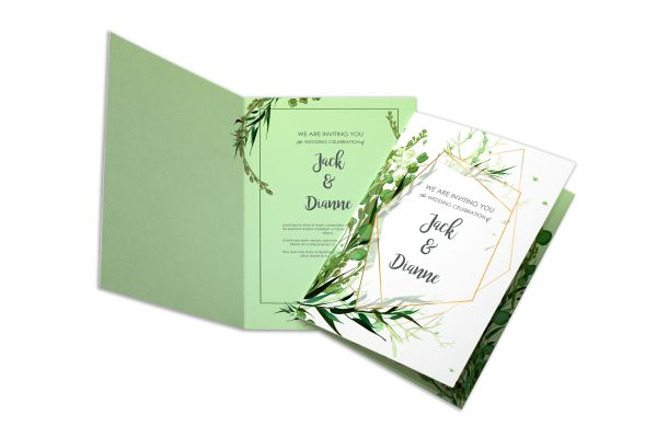 custom premium folded wedding invitations