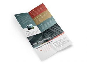 custom french fold brochures