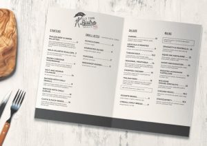 half fold food menu