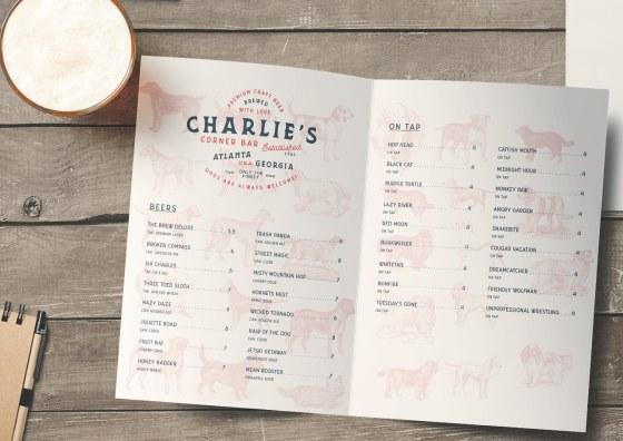 half fold restaurant menu
