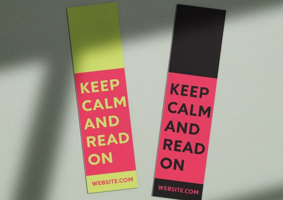 keep calm and read on bookmarks