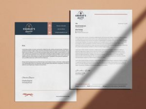 custom brewery letterhead light apricot background