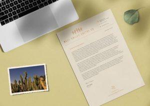 custom letterhead rosco background