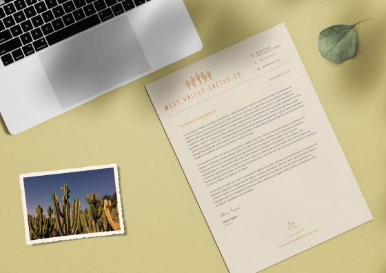 custom letterhead rosco background