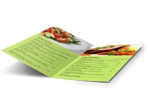 custom half fold menu