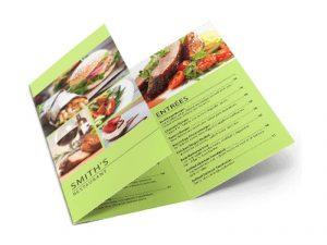 custom printing menu tri fold