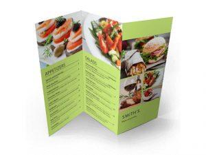custom z fold menu print