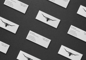 mini business cards white