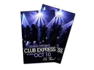 nightclub flyer print