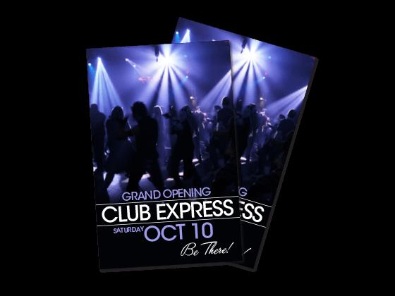 custom nightclub flyers