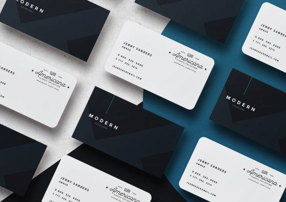 black and white plastic business cards
