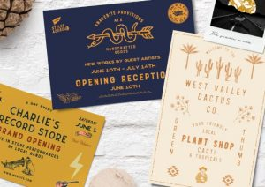 record store custom postcards