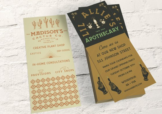 custom rack cards