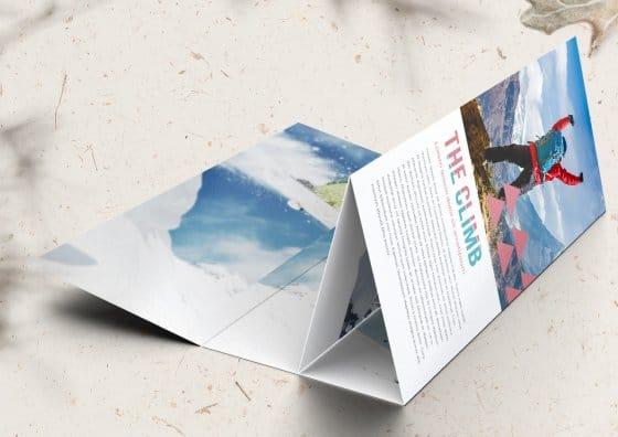 roll fold brochure adventure
