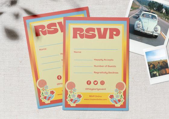 RSVP cards bright