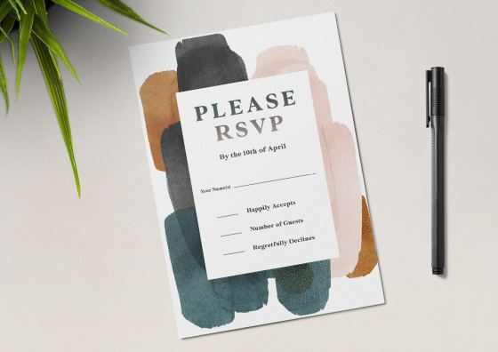 RSVP appoinment design card