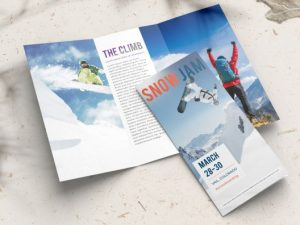 tri fold brochures snow jam images