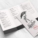 tri fold food menu