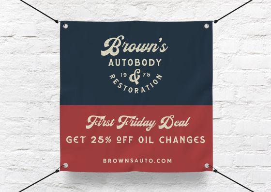 auto shop custom banner