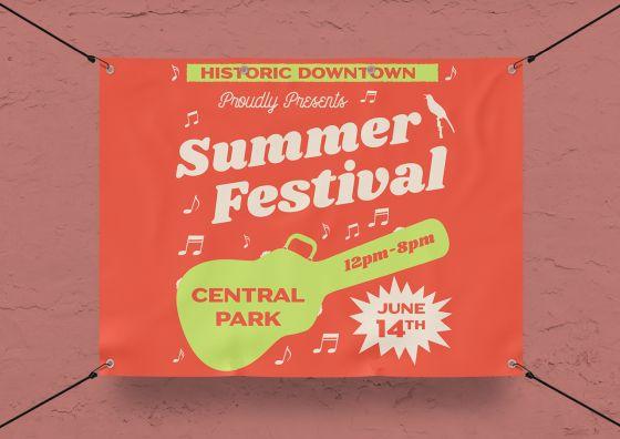 summer festival vinyl banner