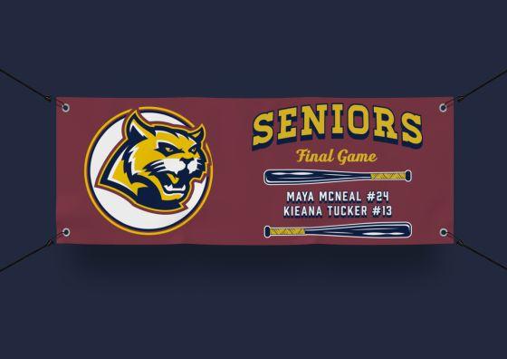 wildcats team mascot vinyl banner