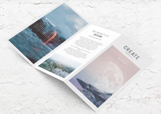 z fold brochure nature images