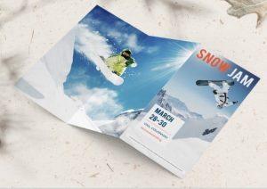 z fold brochure snow