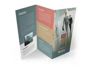 custom z fold brochures