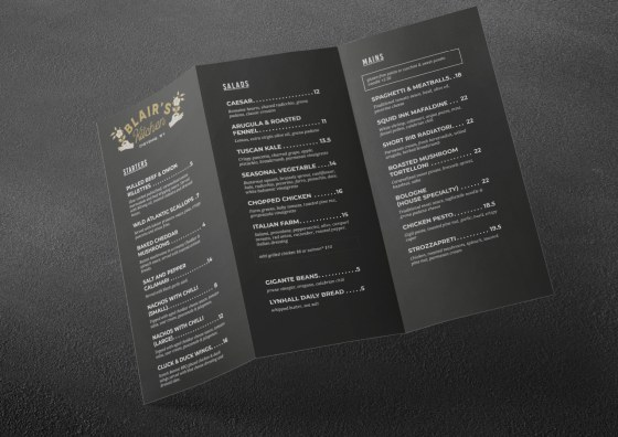 z cold menu dark